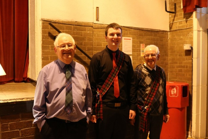 Some of our speakers and our haggis bearer