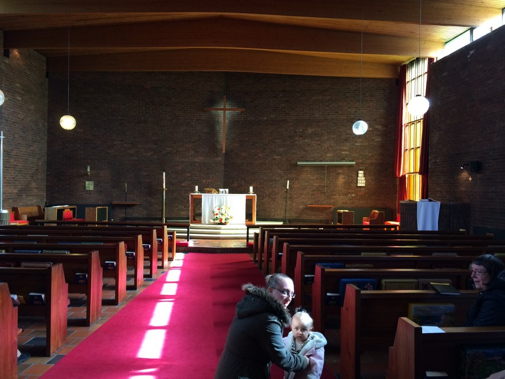 Inside St Luke's church