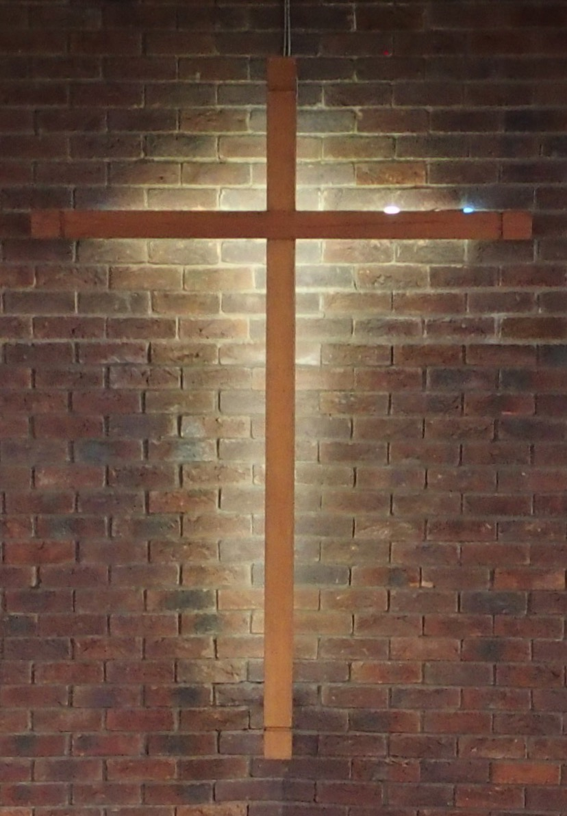 Picture of illuminated cross in St Luke's