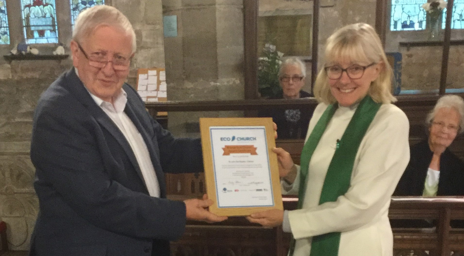 Open Claines Church Awarded Eco Church Bronze Certificate