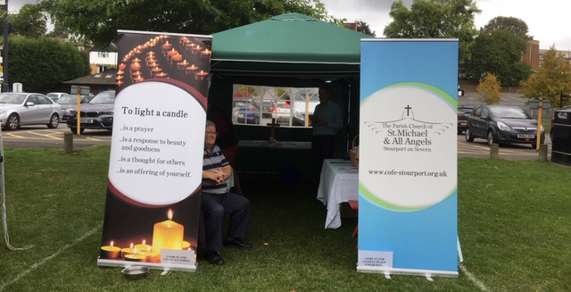 Open Prayer tent at the Stourport Carnival