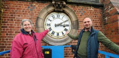Open Repaired clock finds new home at St Peter, Cradley