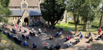 Open Launching Eco Church outside in Malvern