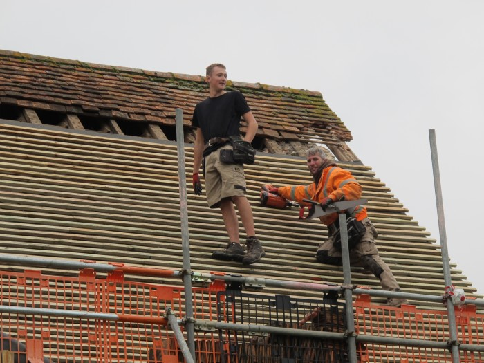 St Mary The Virgin Roof Project 2017 (Men at Work)