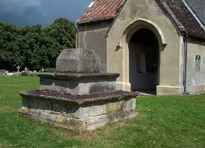 Plinth of church cross