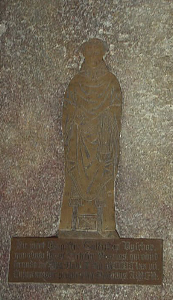 Brass of Geoffrey Bishop