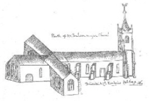 Sketch of St. Nicholas' Church c.1748-1752