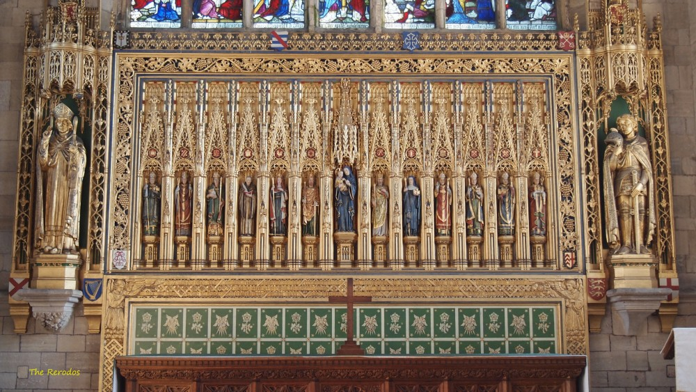 The high altar reredos