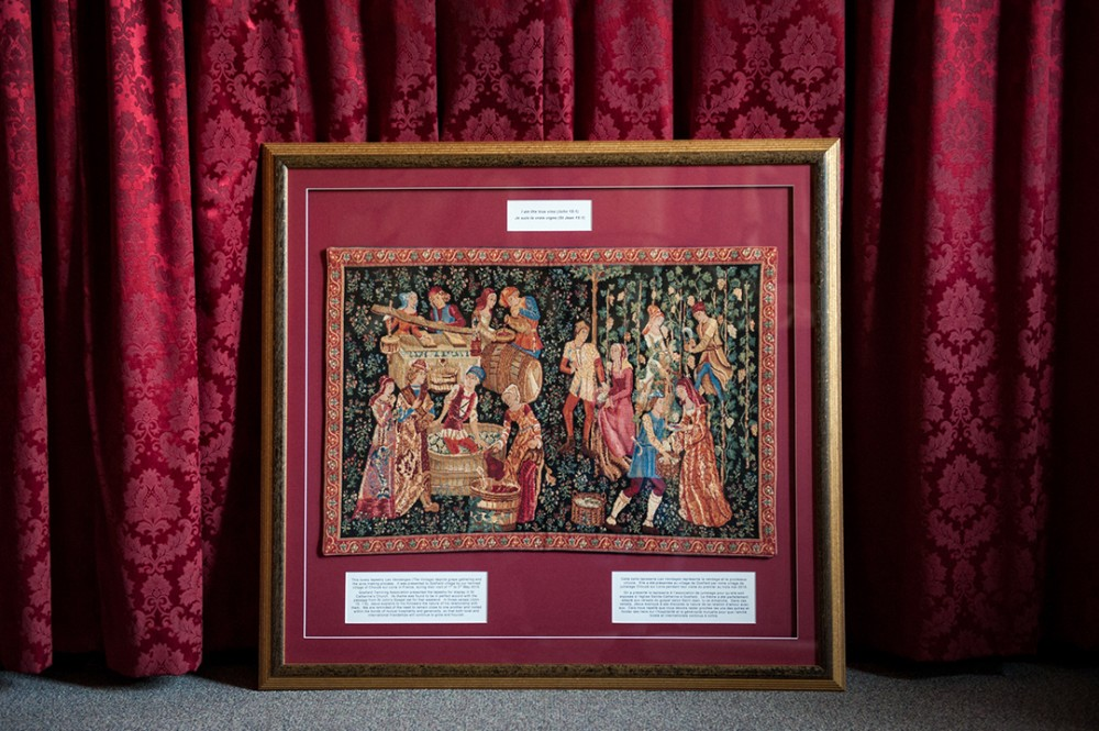 Tapestry donated by our colleagues in France