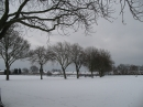 Goodmayes Park in the snow