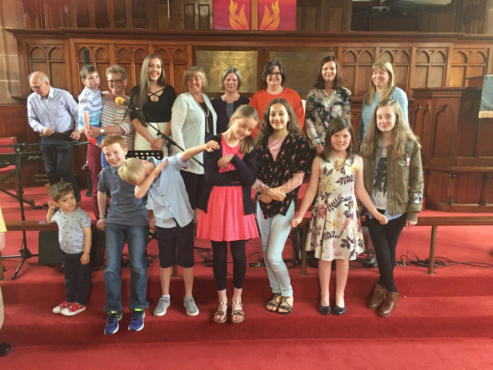 The wonderful cast who brought us an inspirational Children's Service in June!