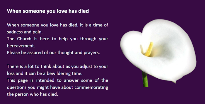 When someone you love has died
