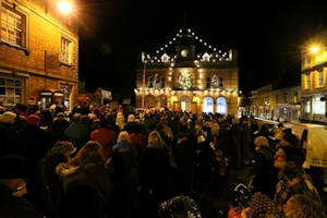 Open Air Carol Service in the Market Square, Towcester
