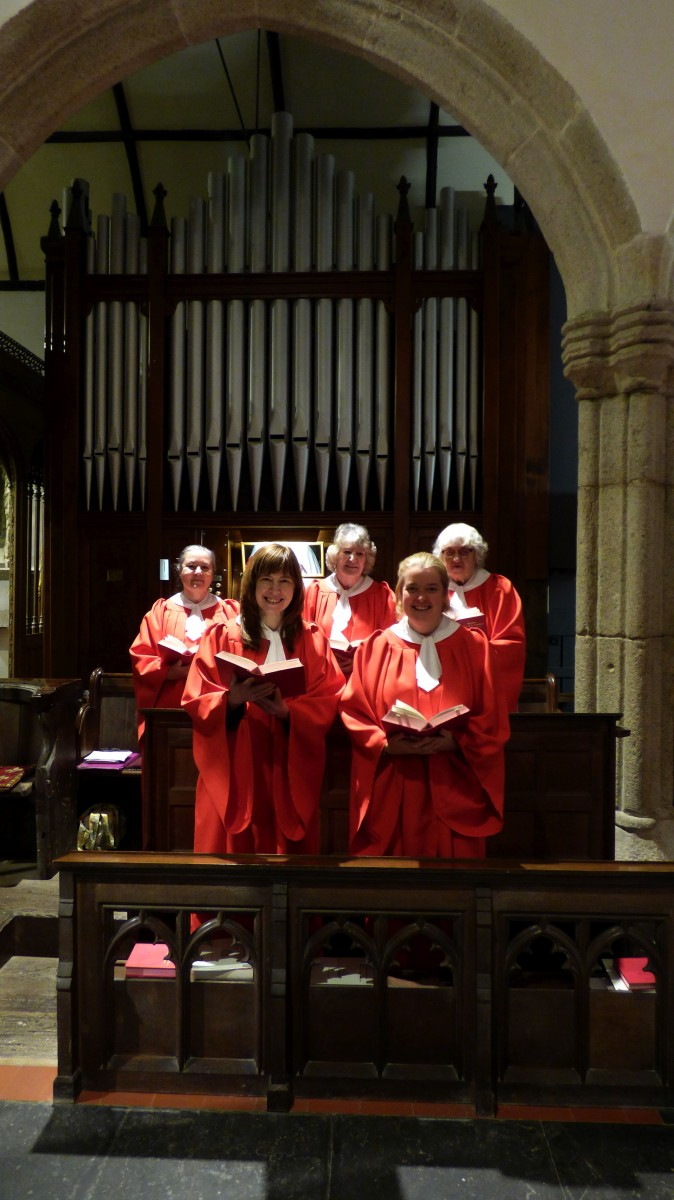 a picture of the church choir