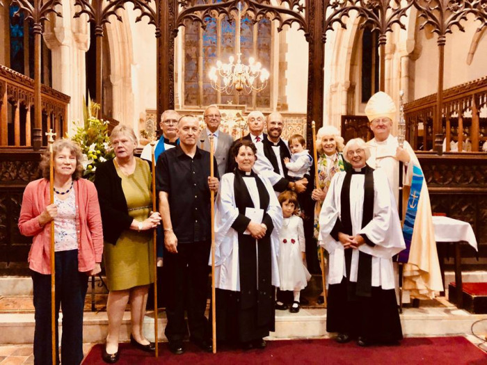 Joachim and children with Team clergy and churchwardens