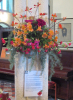 'Shell Shock' Flower arrangement by Angela Milling and words by Shirley Soper