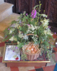 'Egg Collections' Flower arrangement by Ellie Smith and words by Shirley Soper