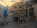 Station 11 is located inside the Church of the Holy Sepulchre, just behind the wall of the 10th station.