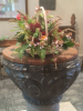 A lovely Harvest basket on the font