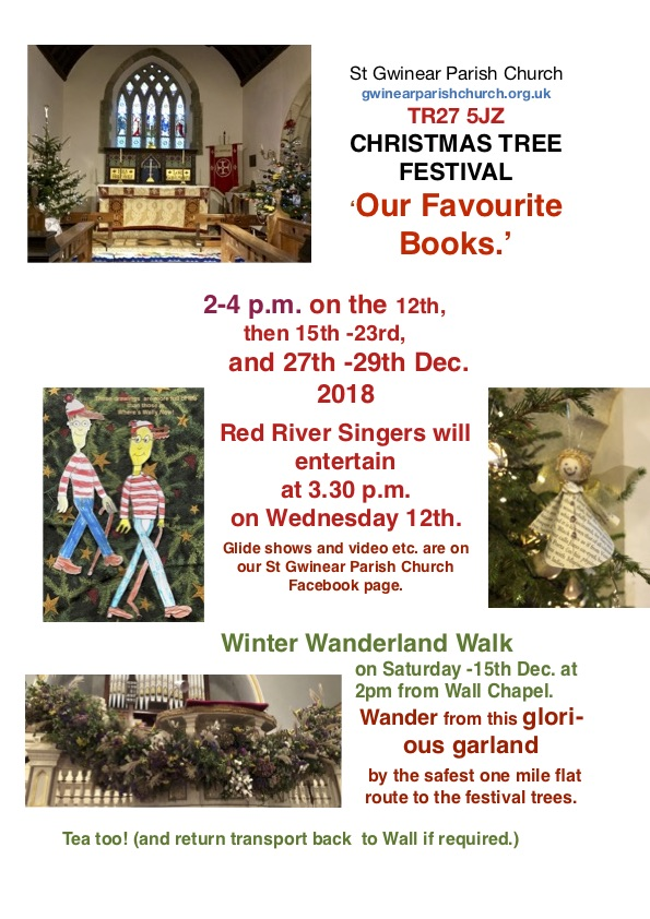 St Gwinear Parish Church Christmas Tree Festival - Our Favourite Books