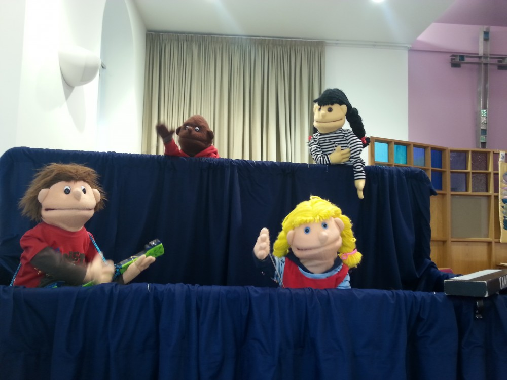 puppets at creative spirit event