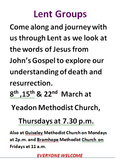 Lent Group Poster