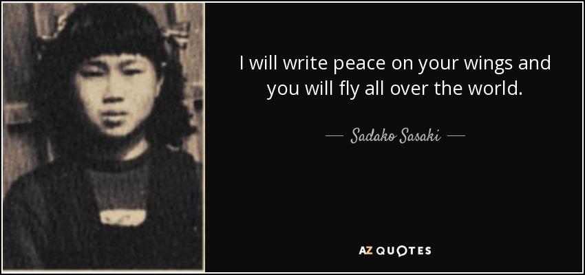Sadako sasaki quotes