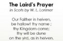 Open 'James Robertson reads The Lord's Prayer in Scots'