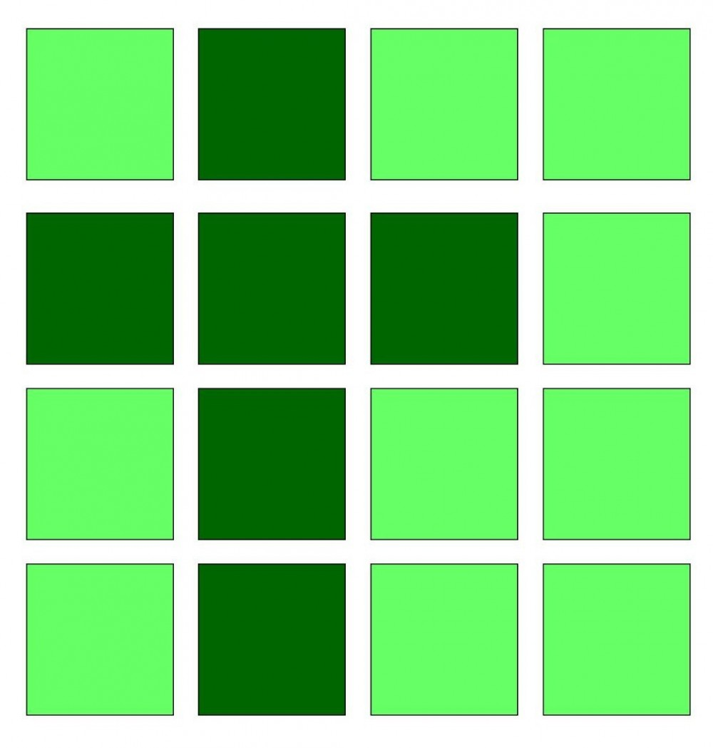 a green cross motif