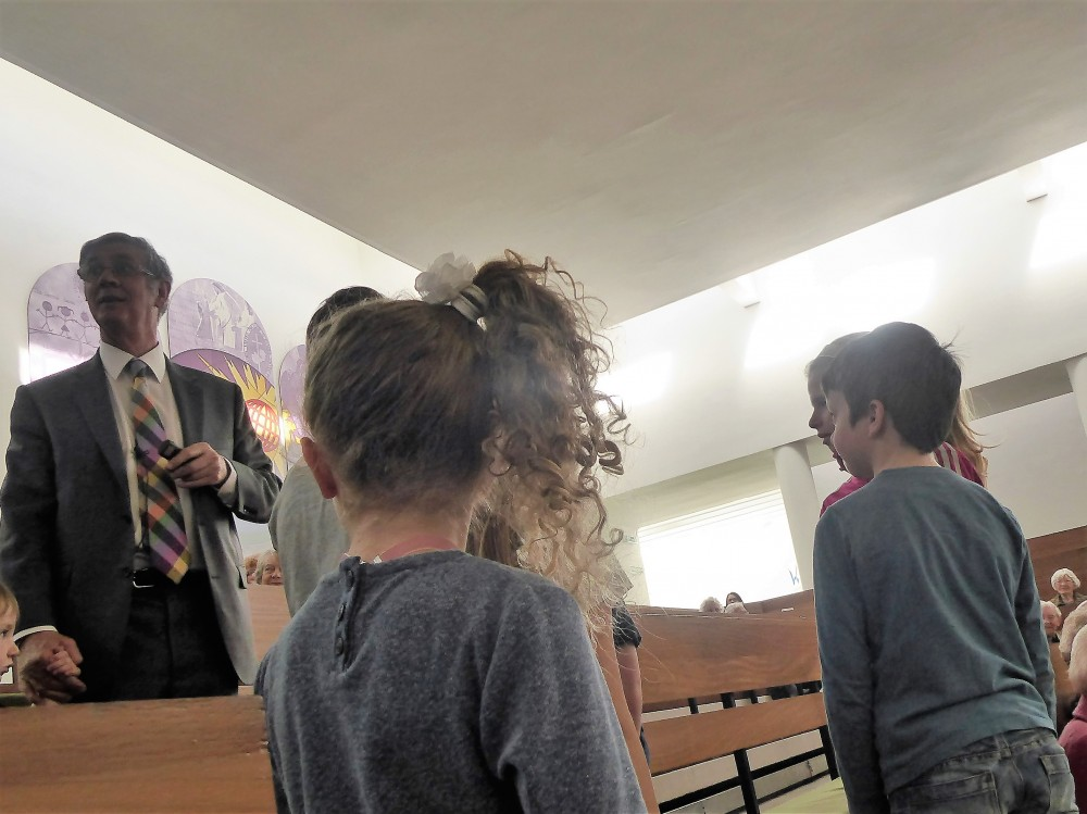 martin and children in church