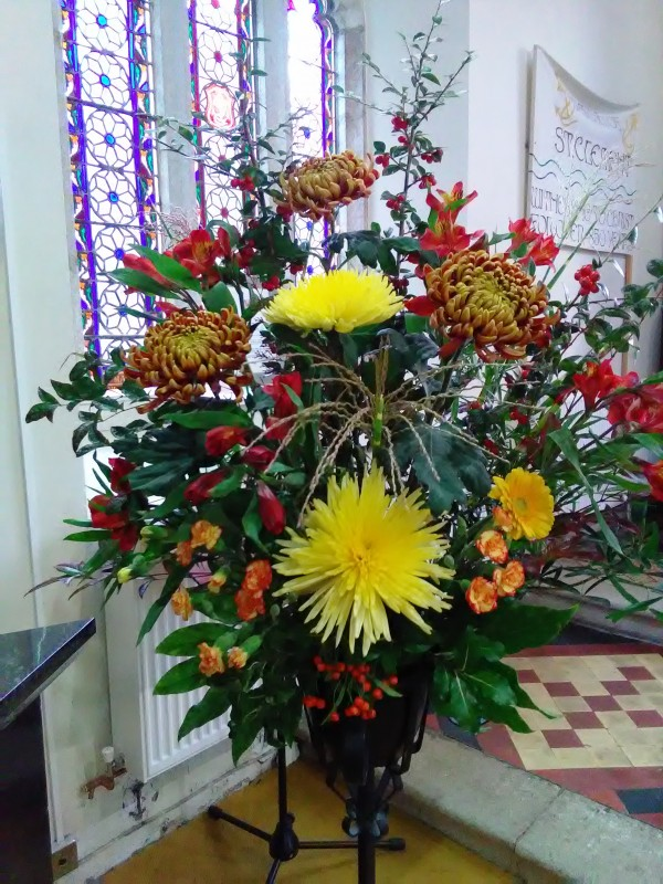 Harvest Festival flowers at St Clement October 2017