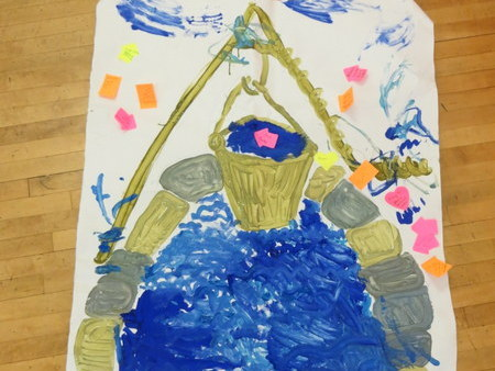 Art work made by Messy Church