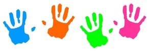 picture of painted handprints