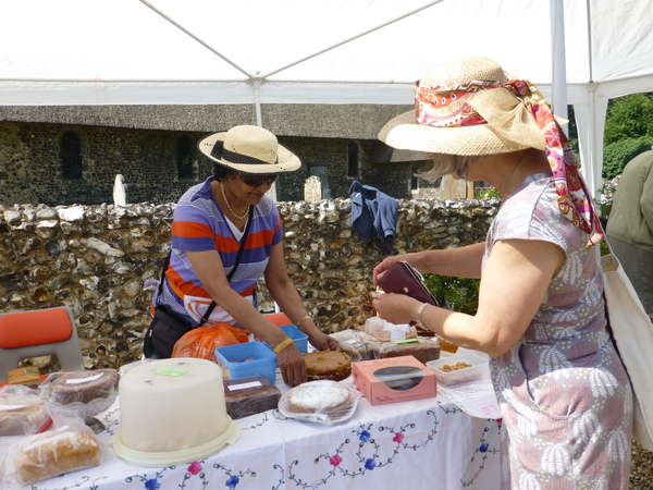 Cake stall at the summer fayre