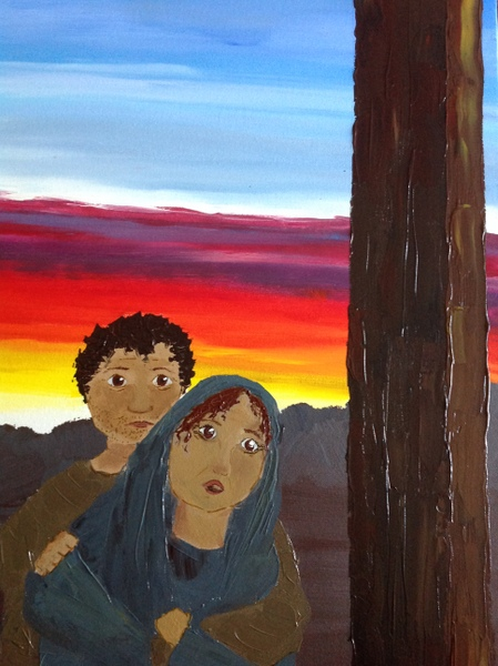 Young people's art work: Stations of the Cross