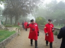 Chelsea Pensioners outside St Peter's Church