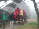 Chelsea Pensioners arriving by carriage at St Peter's Church