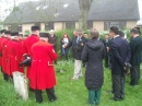 Chelsea Pensioners at the grave of Nanette Hamon