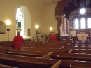 Chelsea Pensioners inside St Peter's Church