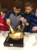 Boys cooking Chinese