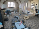 Church hall during the work