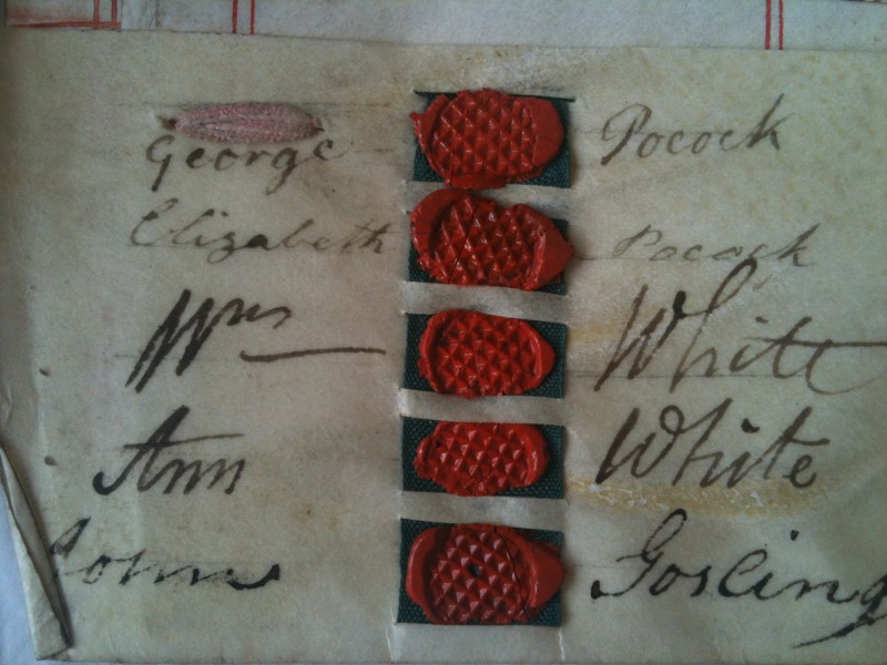 old seals and signatures on parchment