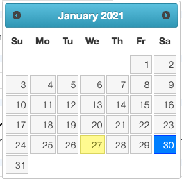 Calendar Selector
