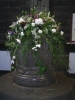 Flowers on the font