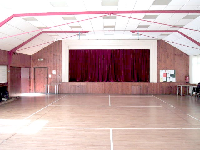 A view of the inside of the hall