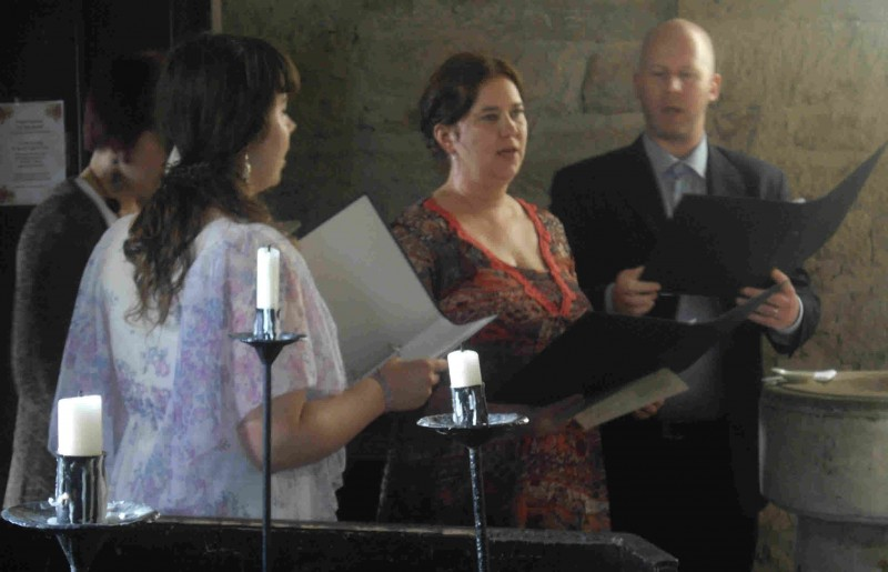 Singers at Baptism at All Saints Church