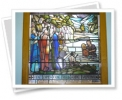 Jesus' baptism - stained glass window
