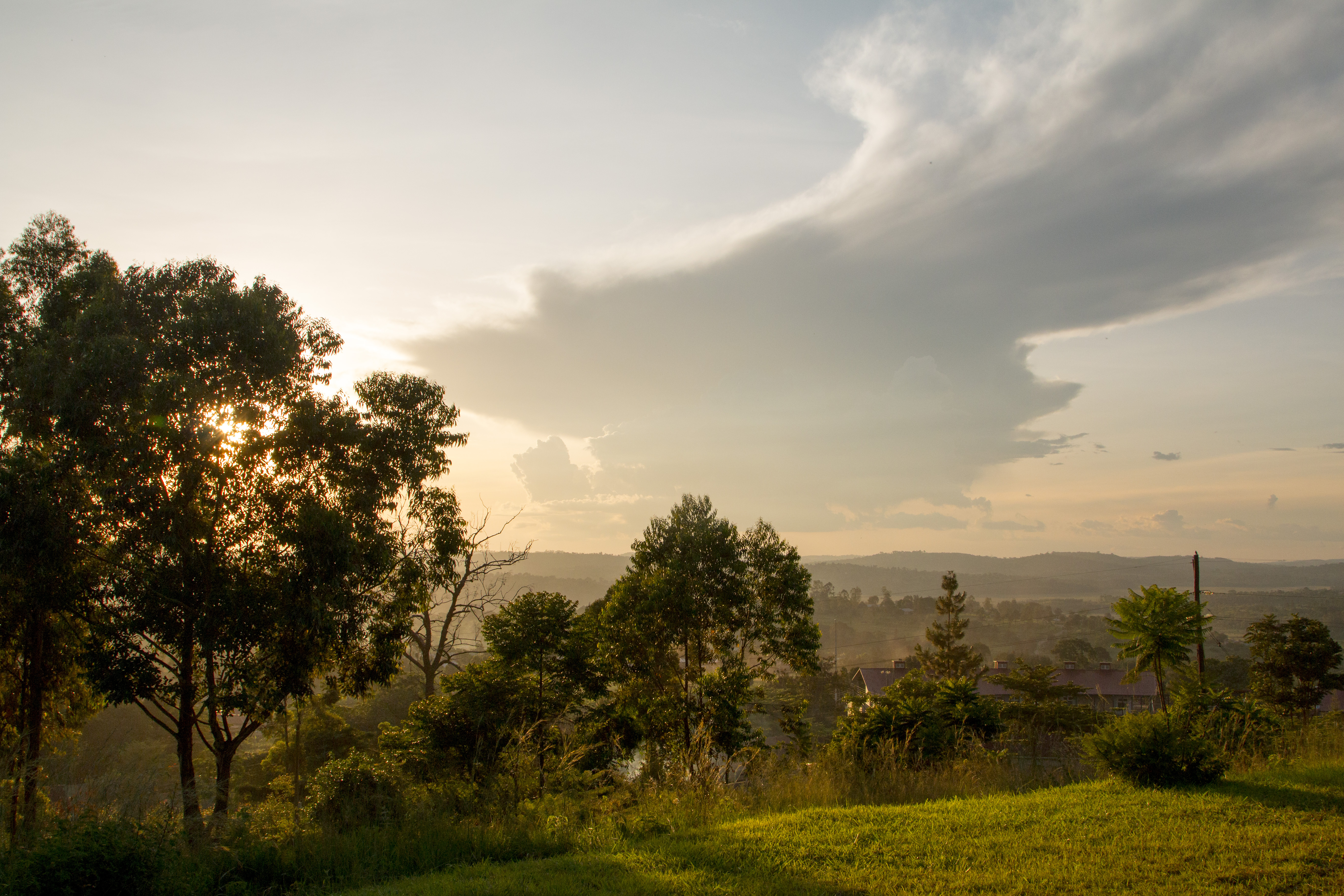 View from the top of Masaka hill at sunset