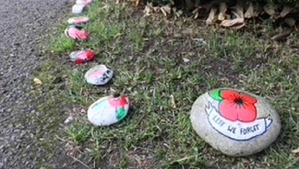 Open Remembrance pebbles: A path to commemoration
