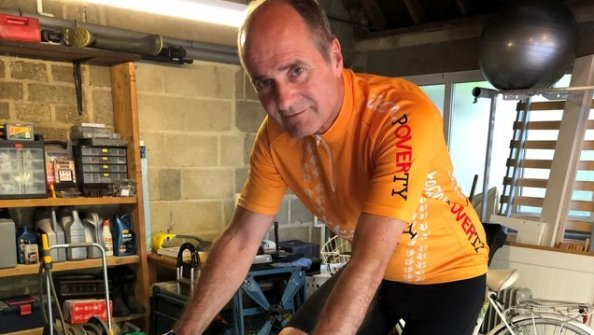 Open Bishop of Swindon back in the saddle and raising money for Christian Aid
